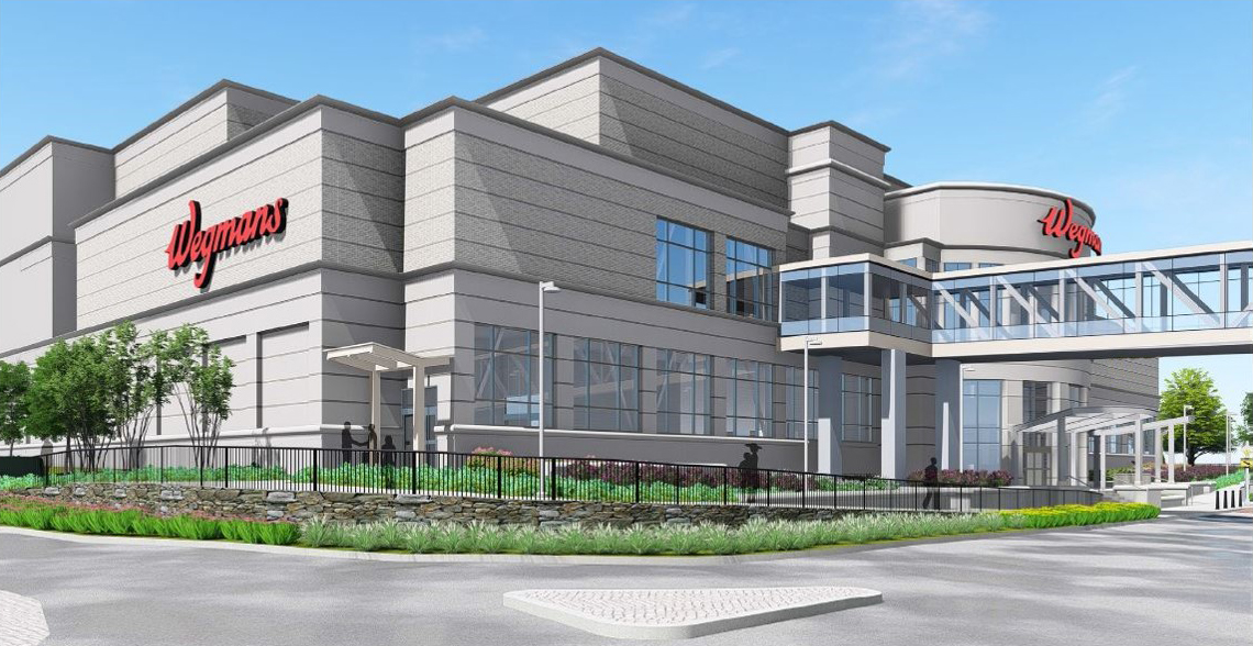 A rendering of the two-story Wegmans planned in Massachusetts in Spring. (Contributed by Wegmans)