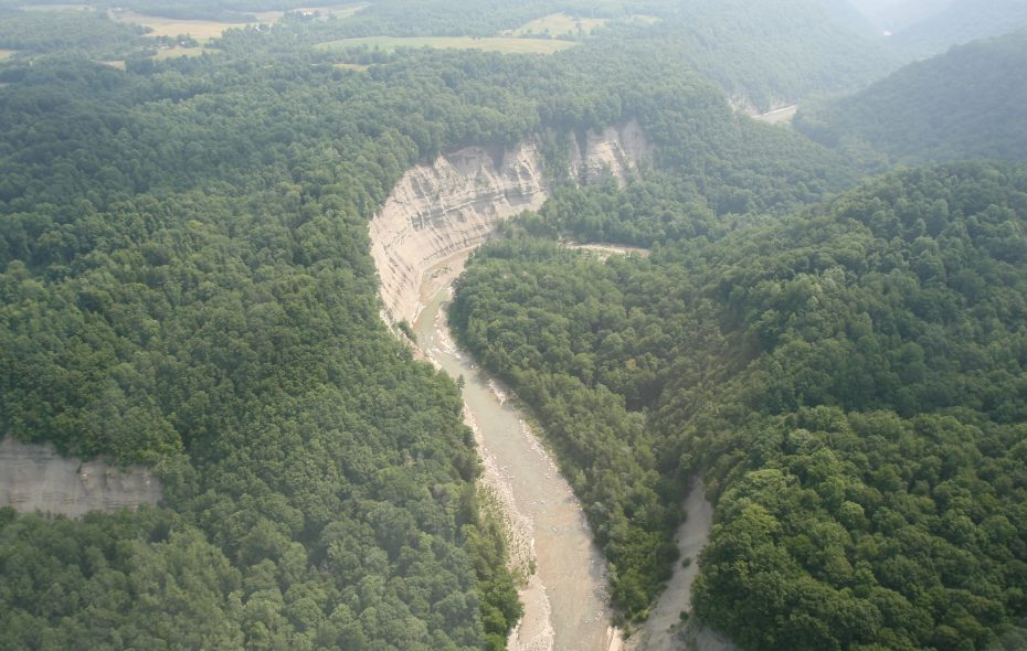 An aerial view of Zoar Valley. (News file photo)