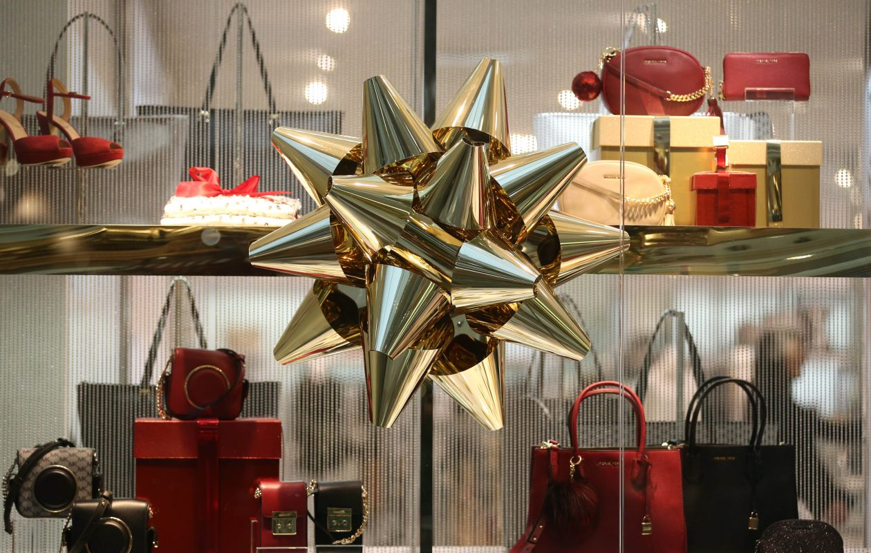 Retailers are starting to hire for seasonal jobs. Here, a shop at the Walden Galleria was adorned in December 2016. (Sharon Cantillon/Buffalo News file photo)