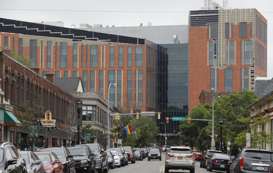 The new UB medical school is nearly complete on the Buffalo Niagara Medical Campus.  (Derek Gee/Buffalo News file photo)