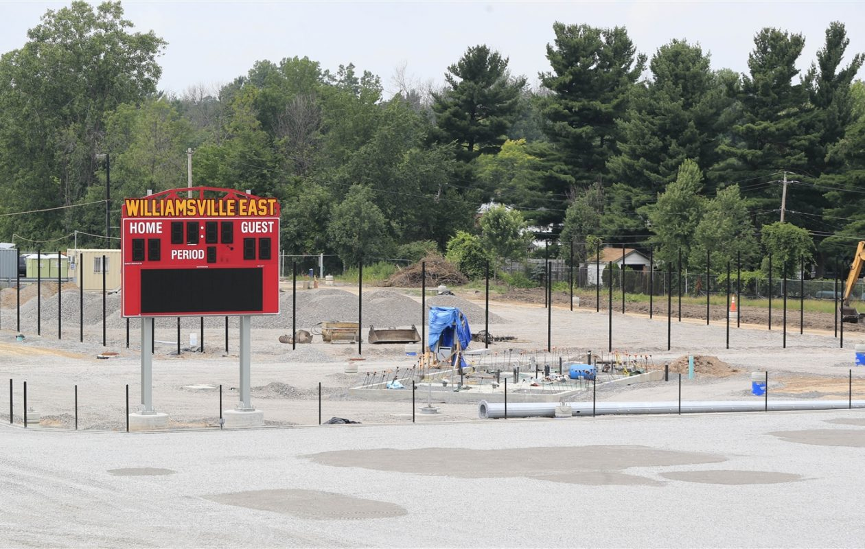 Construction under way at Williamsville East sportsplex in a photo taken this summer. (Harry Scull Jr./Buffalo News)