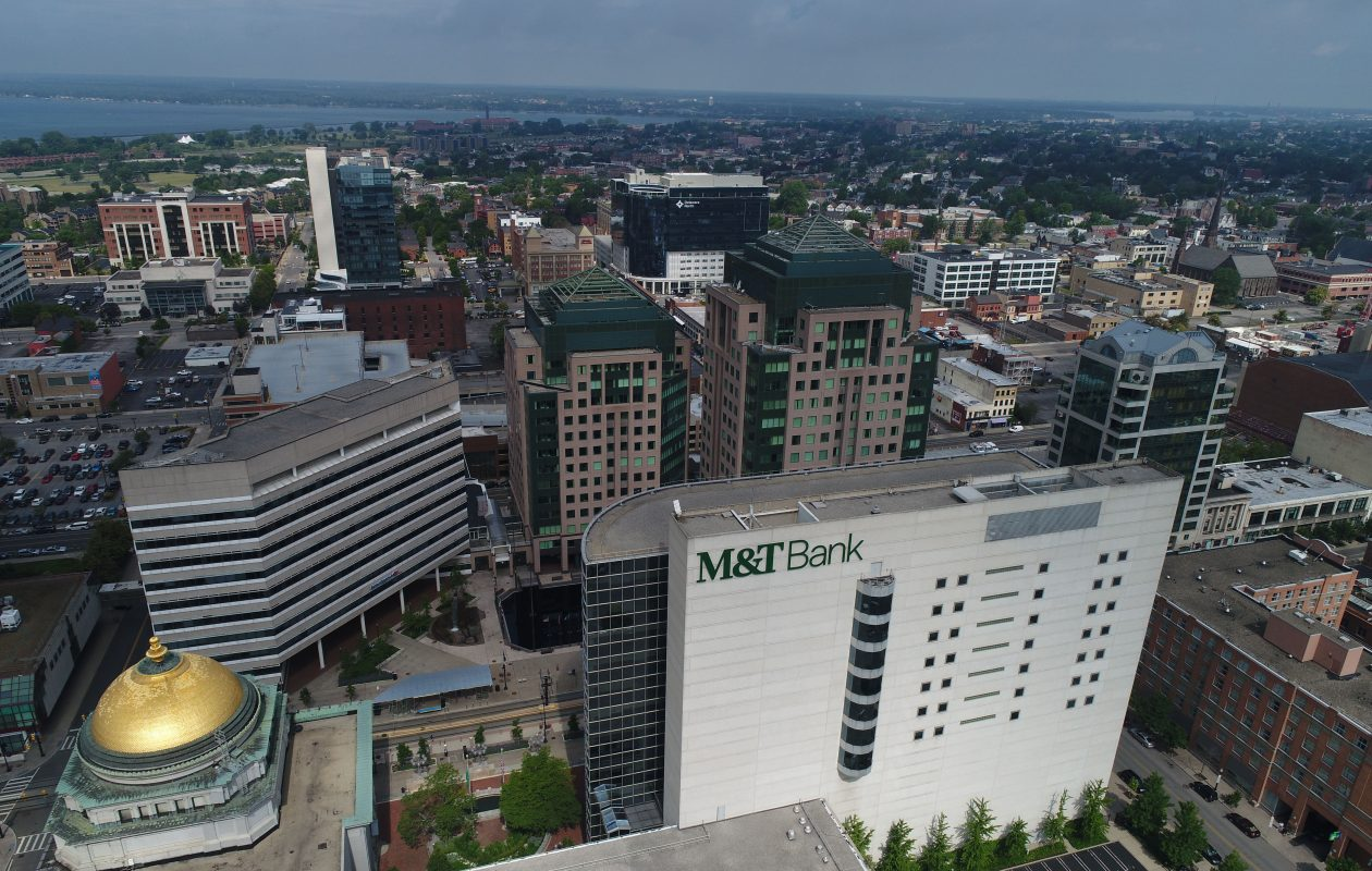 The Buffalo-based M&T Bank has grown through past acquisitions, and analysts wonder when dealmaking will resume.  (Derek Gee/Buffalo News)