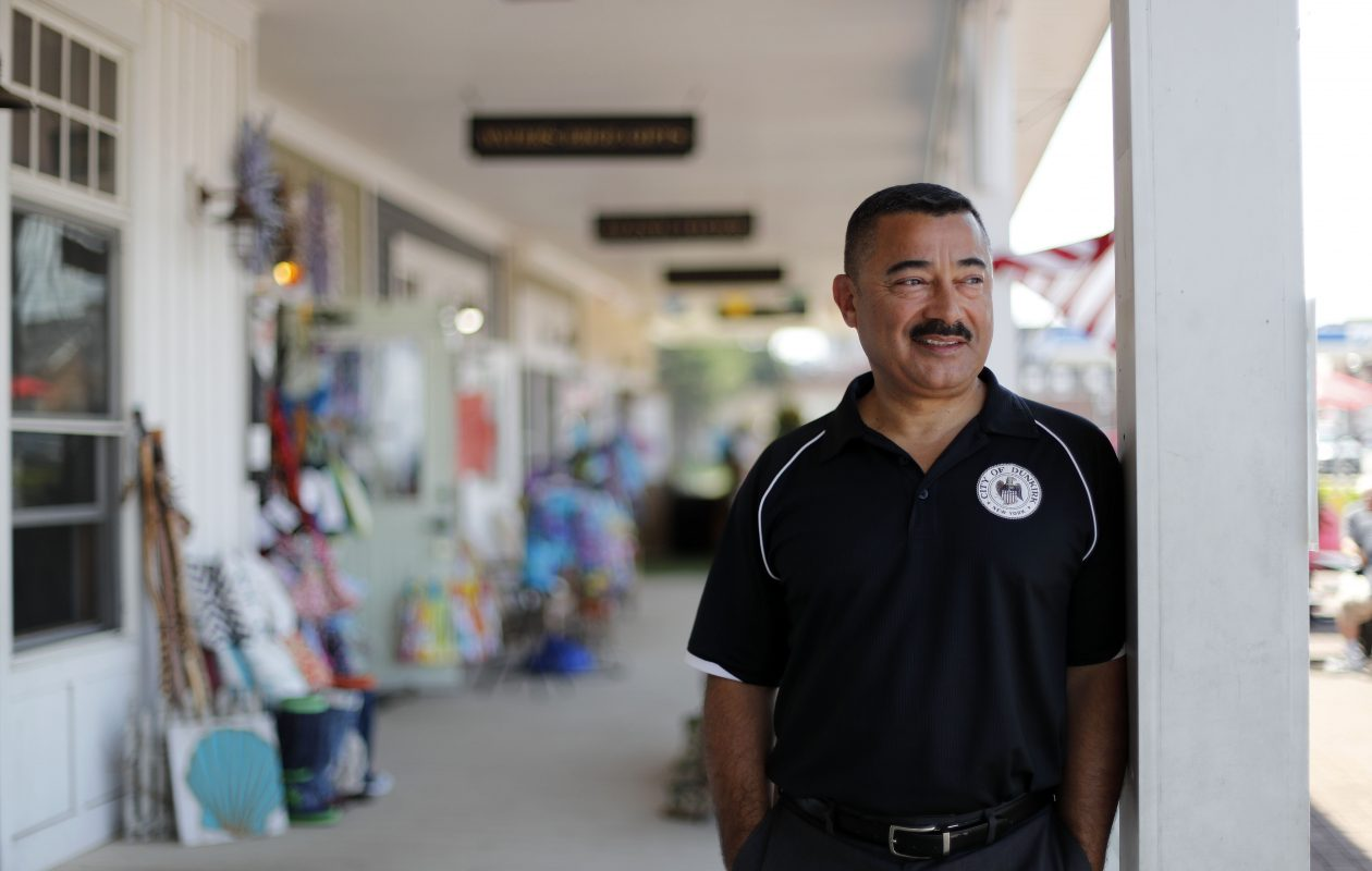 Mayor Willie Rosas, this morning, finally heard from his mother amid hurricane-torn Puerto Rico. (Mark Mulville/the Buffalo News)