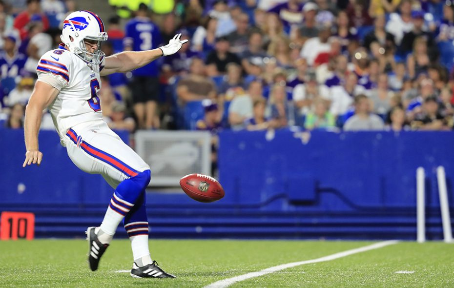 The Bills have worked out three free agents at Bills punter Colton Schmidt's position. (Harry Scull Jr./News file photo)