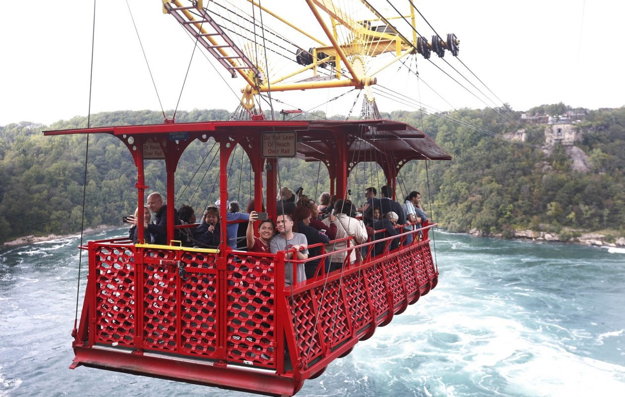 The Whirlpool Aero Car, in Niagara Falls, Ontario provides a spectacular view of the Niagara Gorge from above the Niagara Whirlpool and the Class 6 whitewater rapids on the Niagara River. (Sharon Cantillon/Buffalo News)