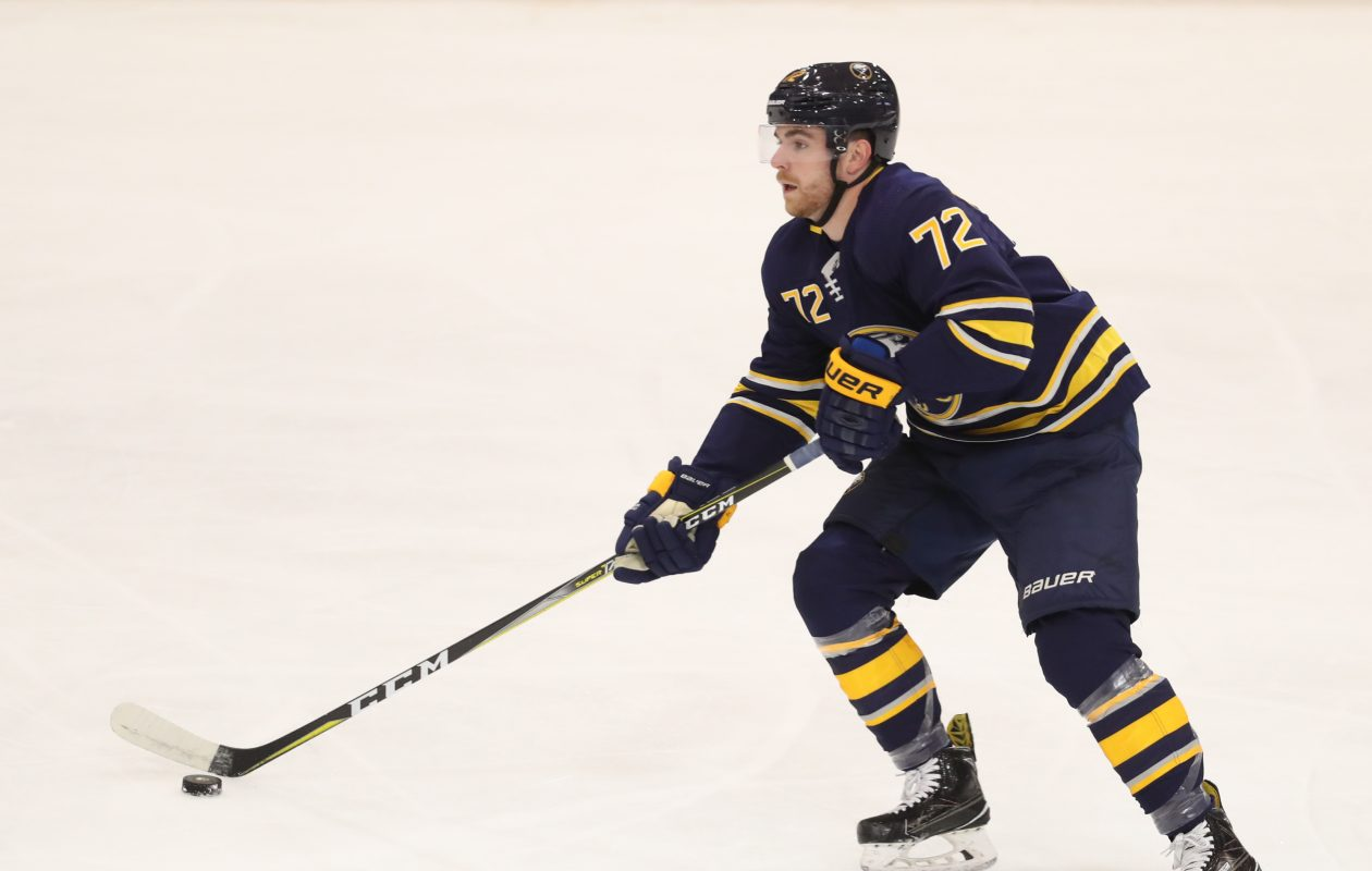 Defenseman Anthony Florentino and the Sabres are 1-0-1 in their Prospects Challenge. (James P. McCoy/Buffalo News)