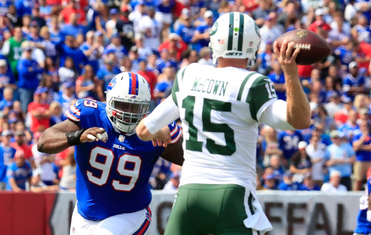 Marcell Dareus failed to make it onto the stat sheet during the Bills' victory over the Jets on Sunday. (Harry Scull Jr./Buffalo News)