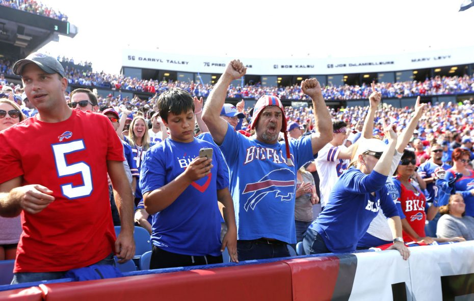 Bills fans will have the weather to cheer about on Sunday. (Robert Kirkham/Buffalo News)