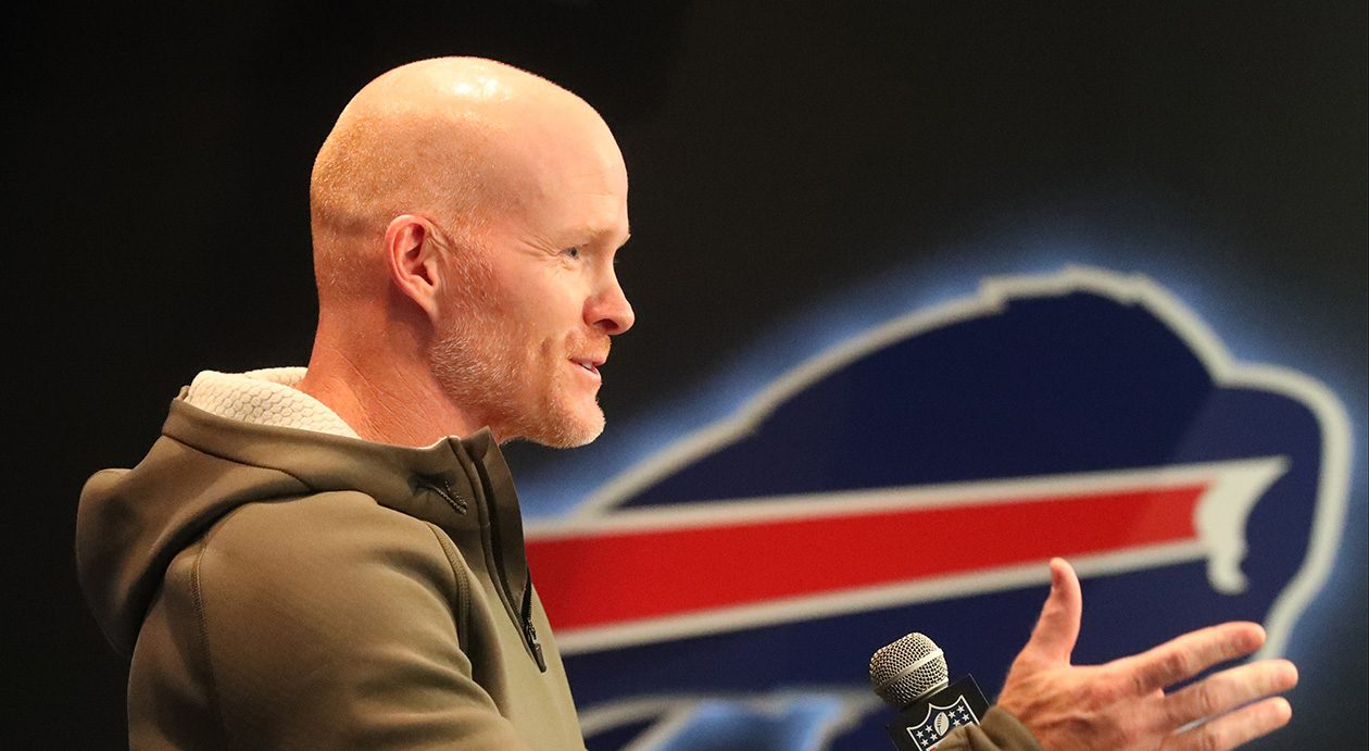 Buffalo Bills head coach Sean McDermott during a previous news conferenc. (James P. McCoy/News file photo)