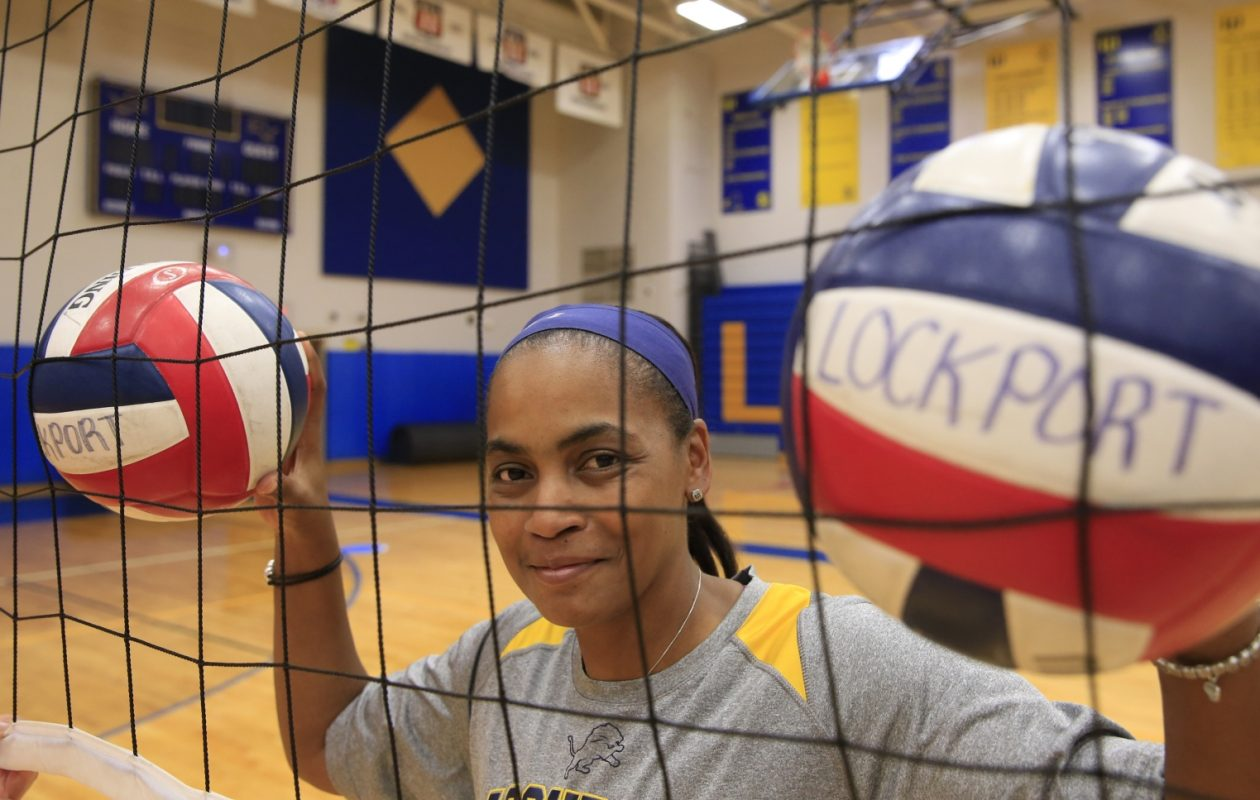 Elizabeth Smorol and the Lockport boys volleyball team have been voted the unanimous No. 1 in each poll this season. (Harry Scull Jr./The Buffalo News)