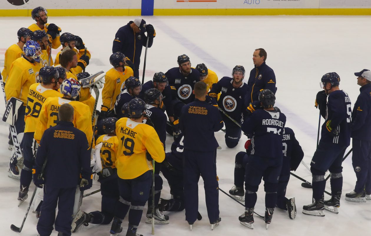 Phil Housley and the Sabres begin the season Thursday. (John Hickey/Buffalo News)