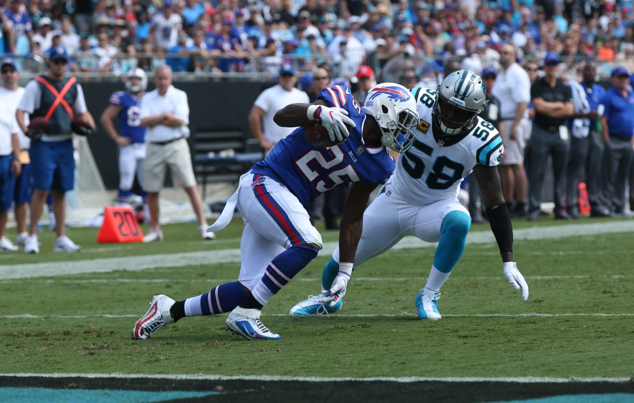 Buffalo Bills running back LeSean McCoy has forced seven missed tackles in the 2017 season. (James P. McCoy/Buffalo News)