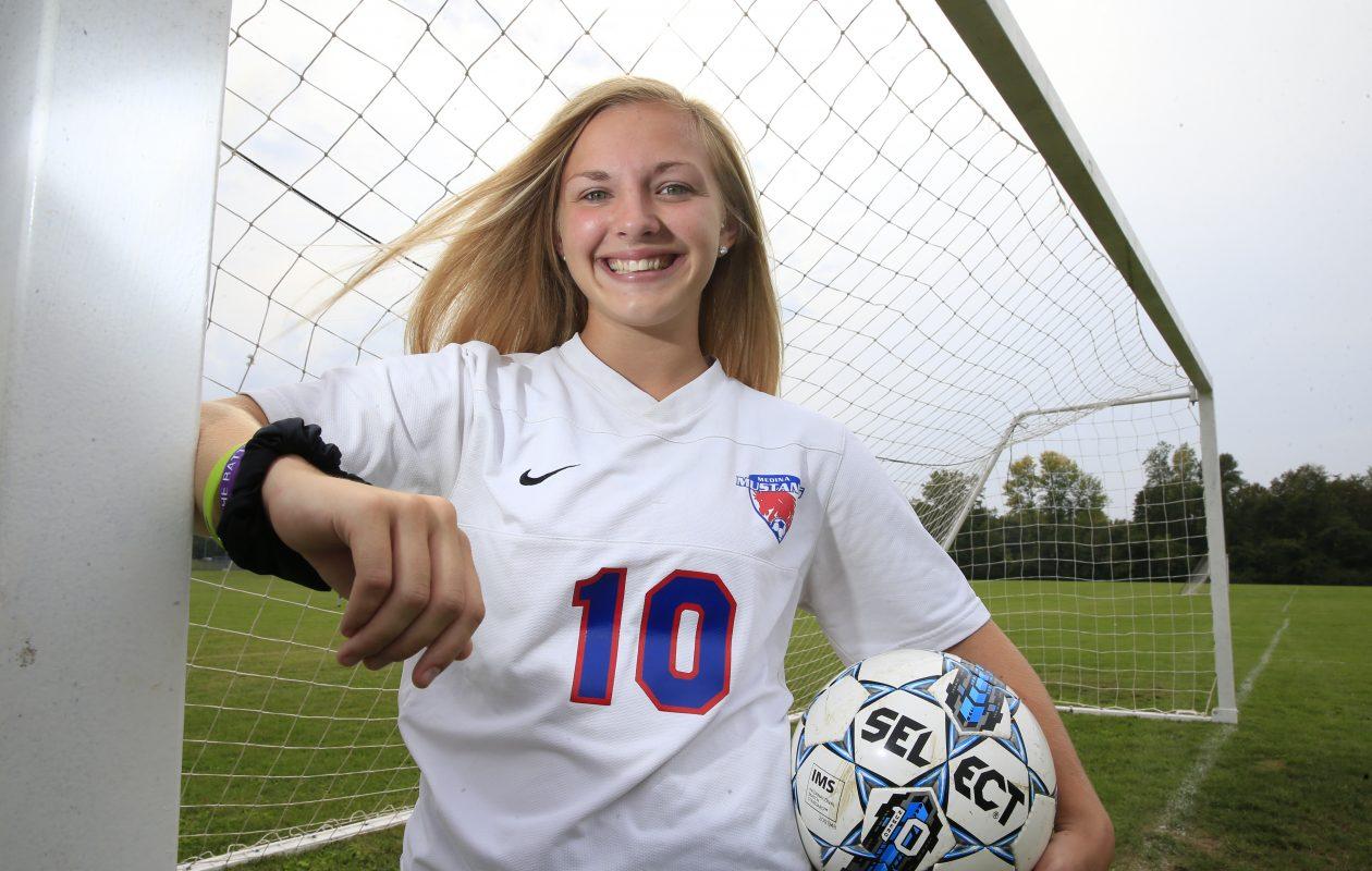 Medina girls soccer player Destiny Satkowski is the Prep Talk Female Athlete of the Week. (Harry Scull Jr./The Buffalo News)