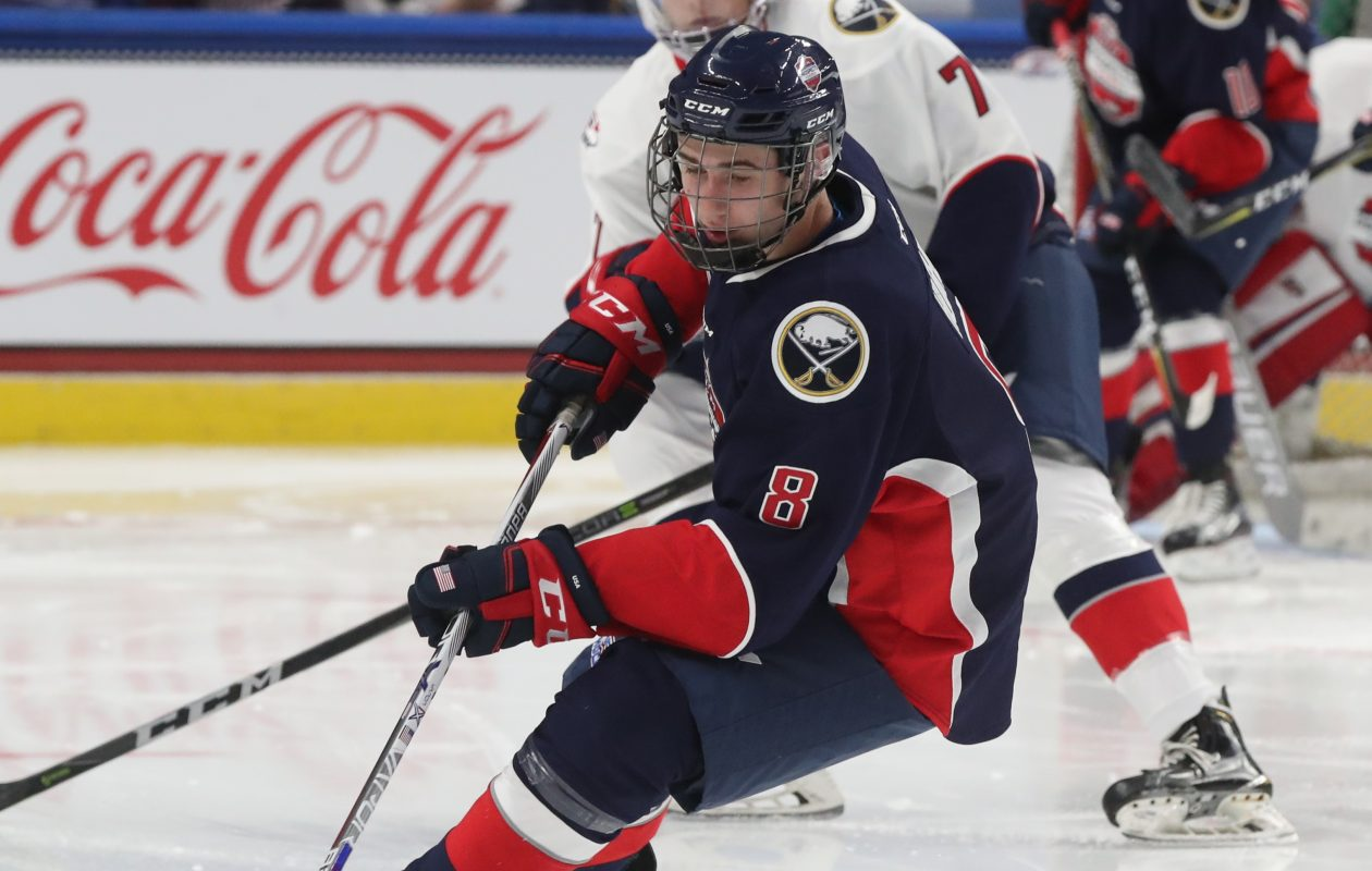Quinn Hughes will head to the University of Michigan this fall and is rated among the top prospects for next year's draft. (James P. McCoy/Buffalo News)