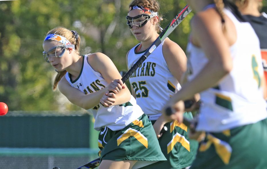 Williamsville North sophomore Emma Roland shoots against Amherst during a 2-0 win for the Spartans. (Harry Scull Jr./ Buffalo News)