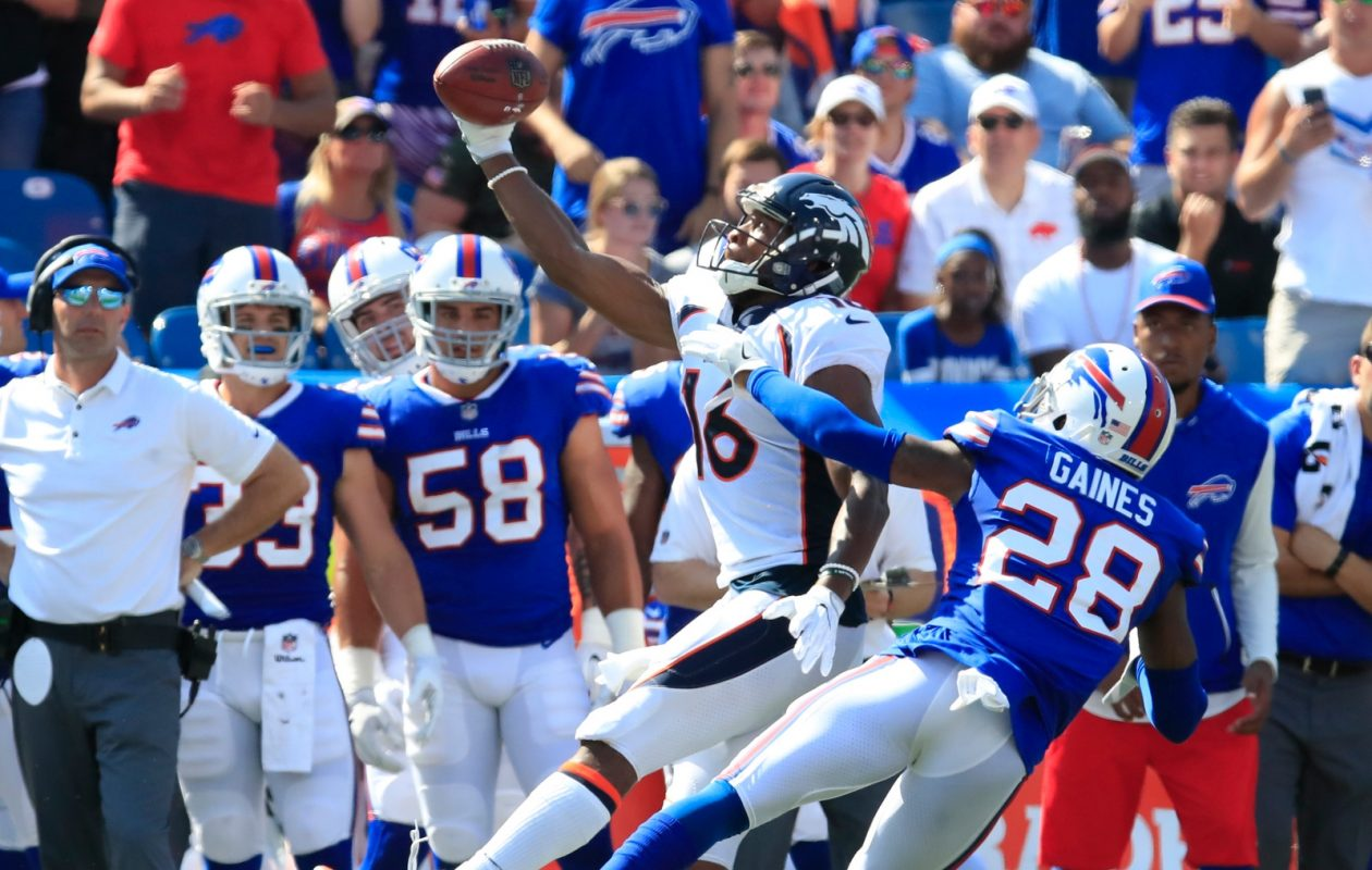 E.J. Gaines (28) was a standout in coverage for the Bills. (Harry Scull Jr./Buffalo News)