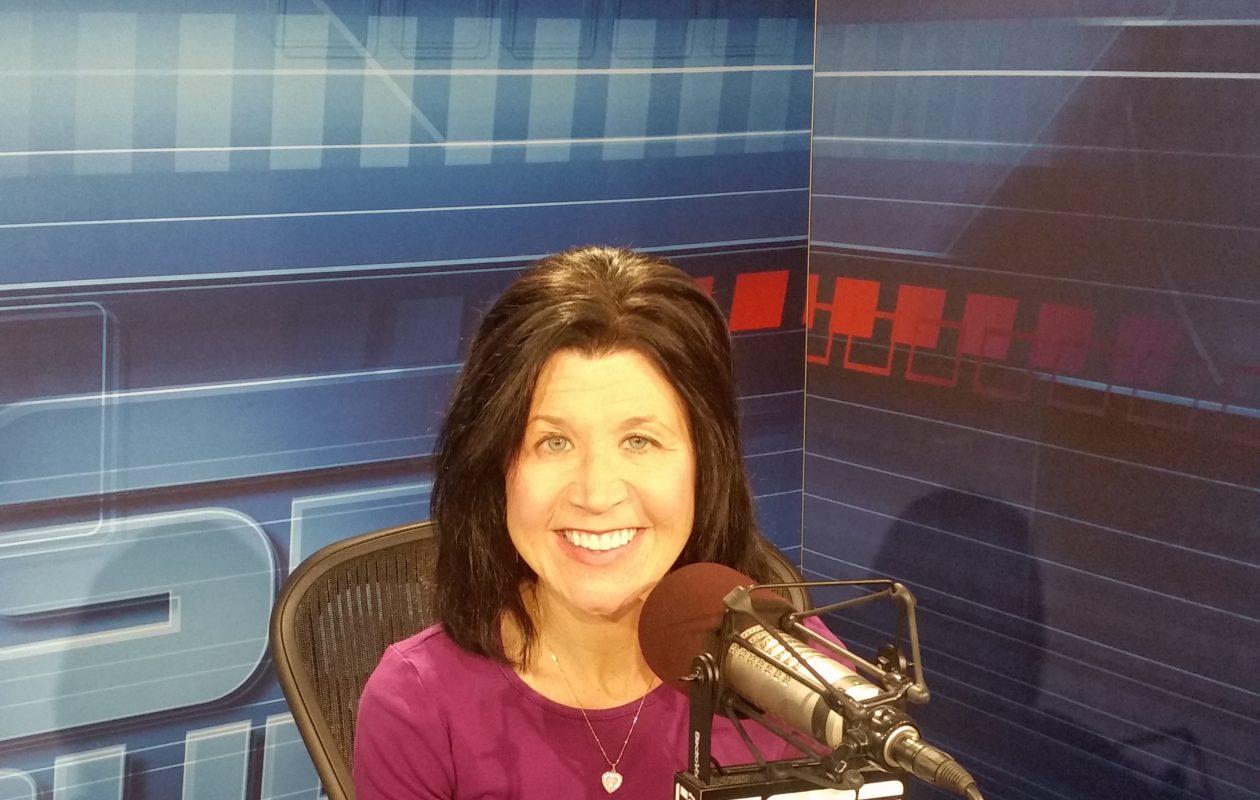 Christine Lisi in the ESPN studios.