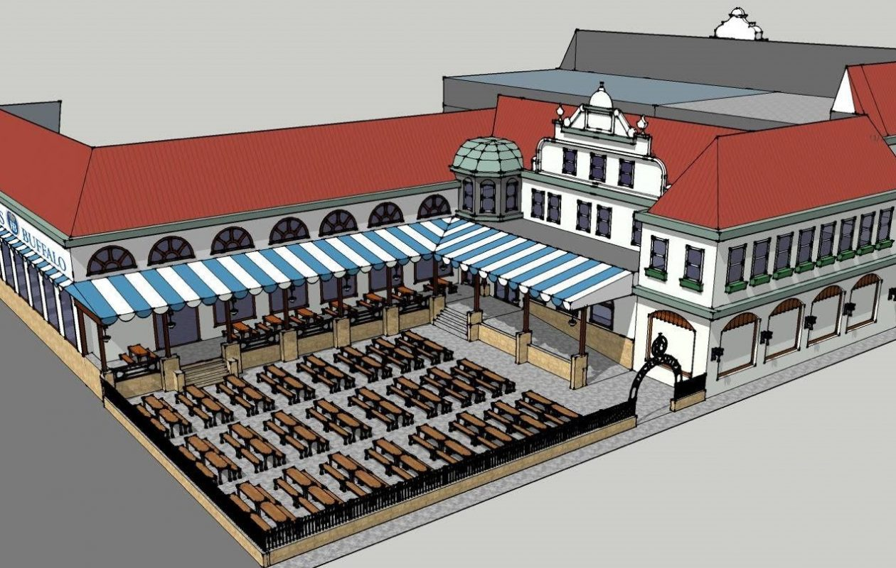 A mock-up of Hofbrauhaus Buffalo, which has moved to the next step in its path toward opening. (via Hofbrauhaus' Facebook page)