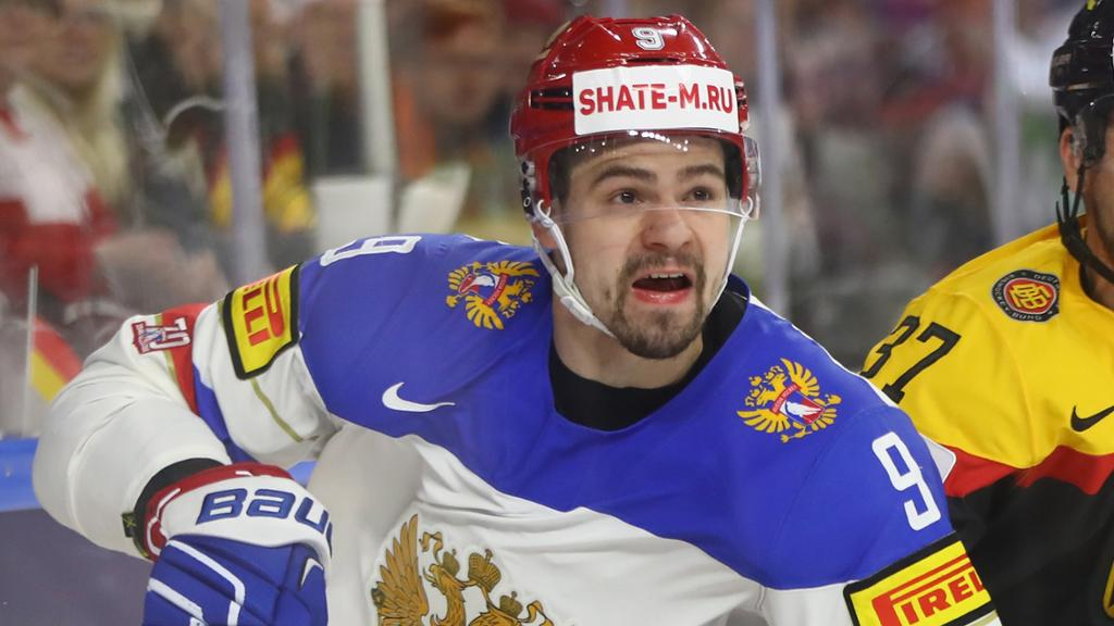 Victor Antipin signed with the Sabres in July out of the KHL. (Getty Images).
