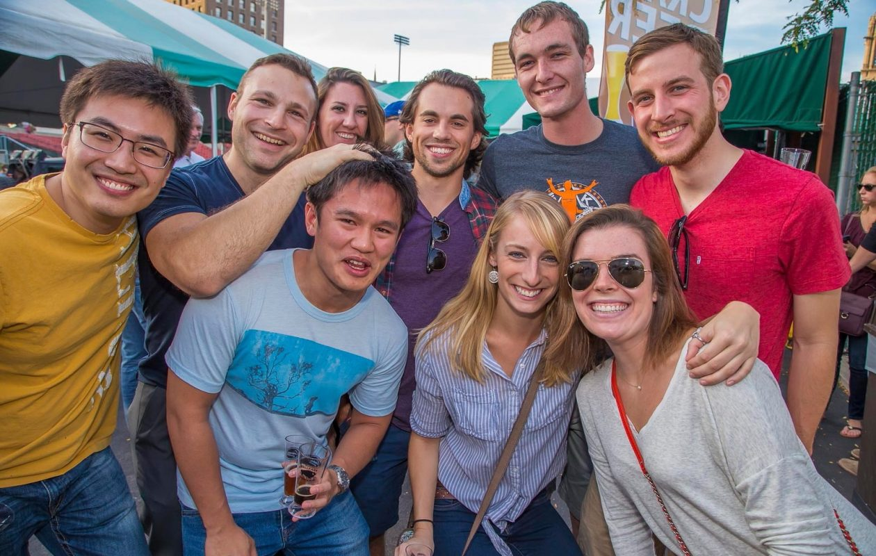 Smiling faces at the 2015 Ballpark Brew Bash. The event returns to Coca-Cola Field on Saturday for another year. (Don Nieman/Special to The News)