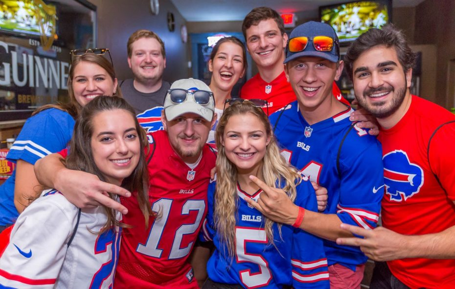Bills fans blitzed Public House of Buffalo on Hertel Avenue during the Game Day Bar Crawl. (Don Nieman/Special to the News).