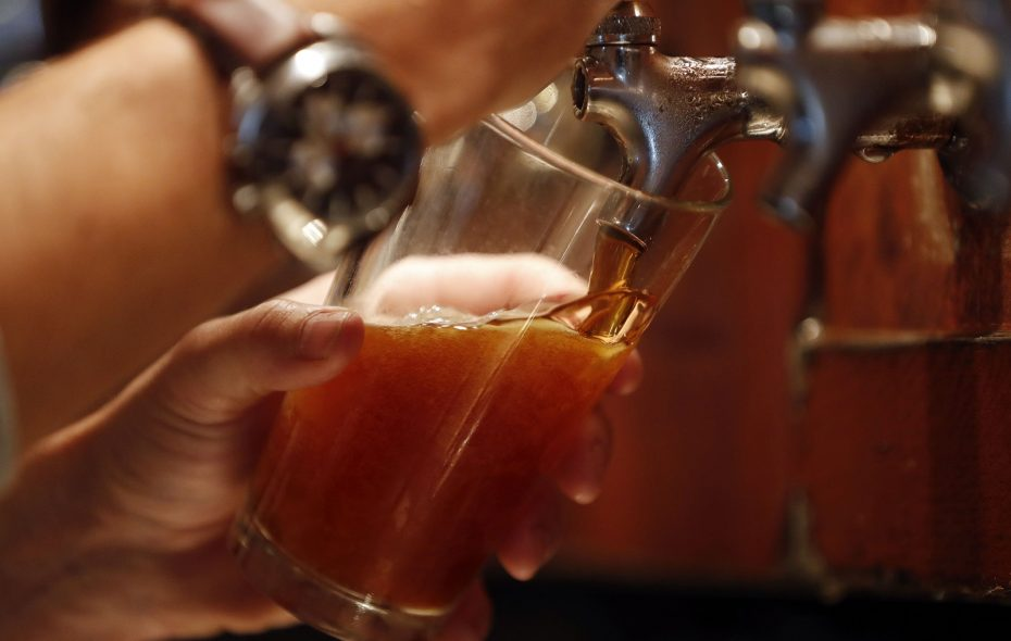 A pint of the amber ale from Buffalo Brewpub in Amherst. (Mark Mulville/Buffalo News)