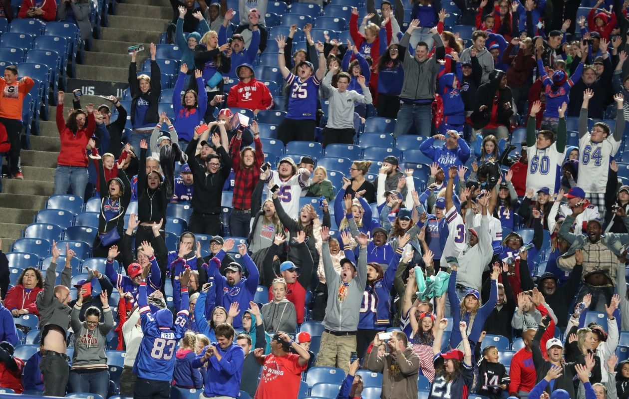 There weren't a lot of fans in the stands at New Era Field Thursday night, but plenty of them watched the Bills Lions game on TV. (James P. McCoy/Buffalo News)