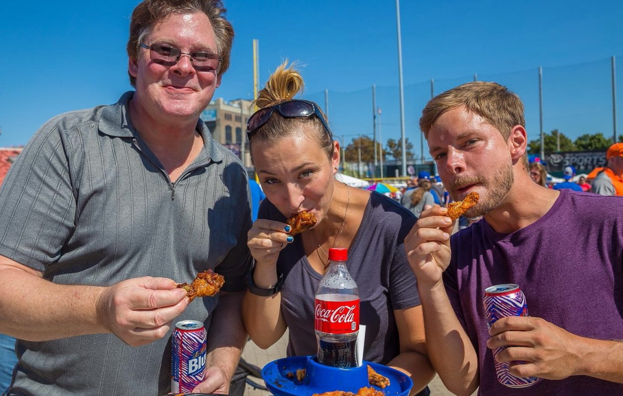 Smiling faces at the 2016 National Buffalo Wing Fest. The annual festival returns on Sept. 2 and 3 in 2017. (Don Nieman/Special to The News)