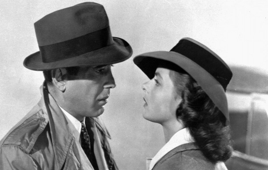 "Humphrey Bogart and Ingrid Berman in in a scene from the film ""Casablanca.""  (Warner Bros.)"