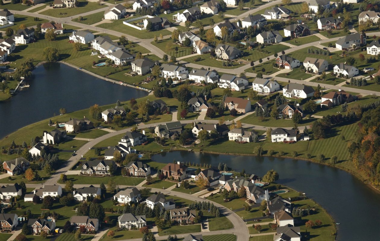 An aerial view of Clarence neighborhood. (Derek Gee/Buffalo News file photo)