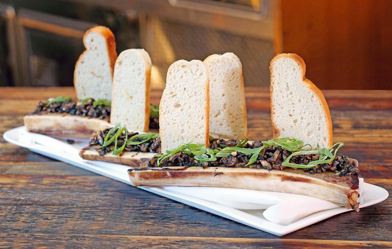 Bone marrow appetizer at CRaVing Restaurant on Hertel.