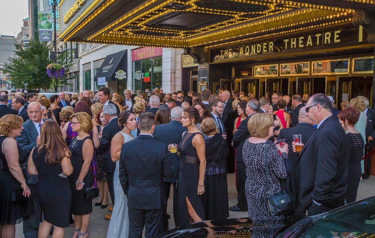 Curtain Up attendees gather outside Shea's Buffalo Theatre in 2016. The outdoor portion moves to Fountain Plaza for 2017. (Don Nieman/Special to The News)
