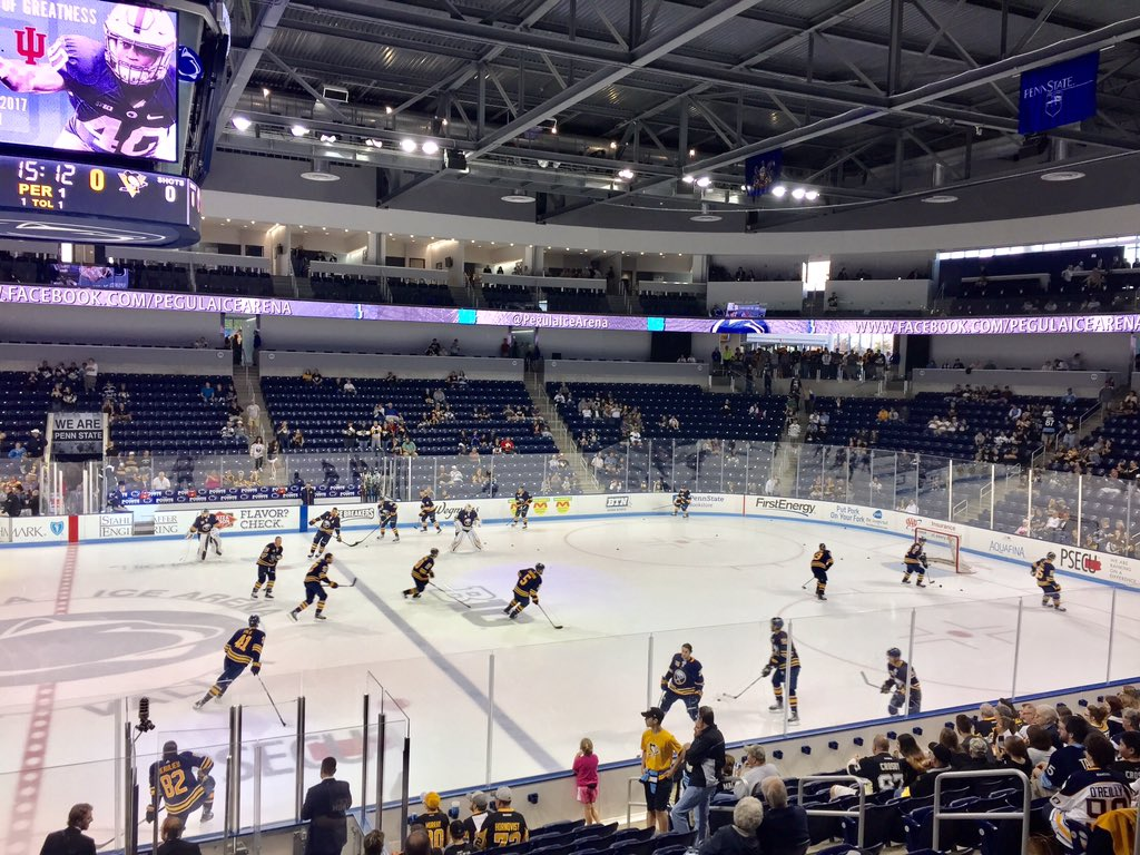 The Sabres face the Penguins at Penn State's Pegula Ice Arena. (John Vogl/Buffalo News)