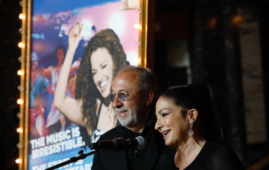 """Cuban-American music legends Emilio and Gloria Estefan appeared in Shea's Performing Arts Center Thursday morning for the launch of the musical """"On Your Feet!"""" (Derek Gee/Buffalo News)"""