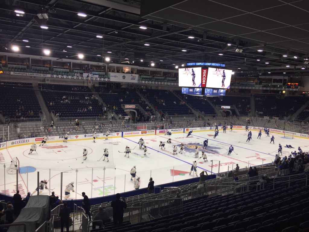 The Sabres and Maple Leafs played in Ricoh Coliseum, home of the minor-league Toronto Marlies. (John Vogl/Buffalo News)
