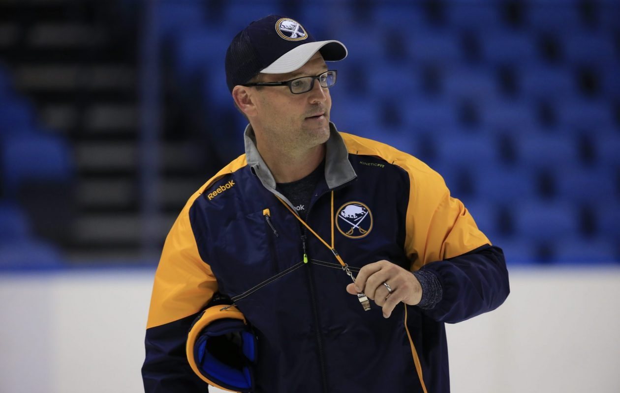 Dan Bylsma hits the airwaves this season on NHL Network (Harry Scull Jr./Buffalo News file photo).