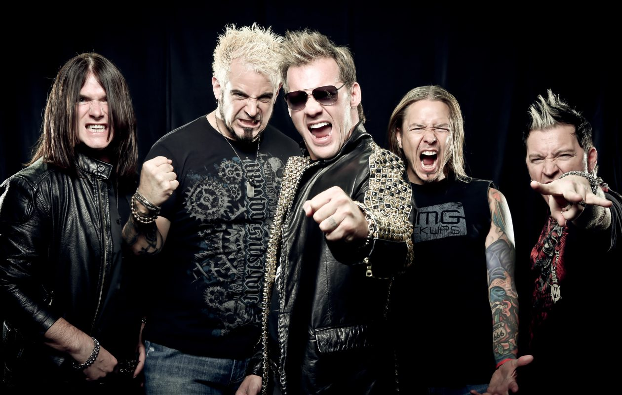 Chris Jericho, center, set a no caps/shorts/watches rule for Fozzy. 'Look Like a Star' is one of several success tips he shares in his new book. (Photo by Tim Tronckoe)