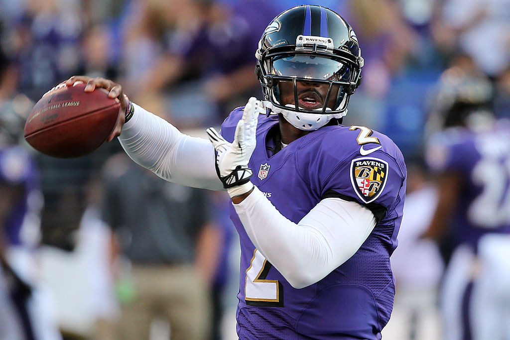 Tyrod Taylor, pictured in 2013 when he was the quarterback of the Baltimore Ravens. (Getty Images)