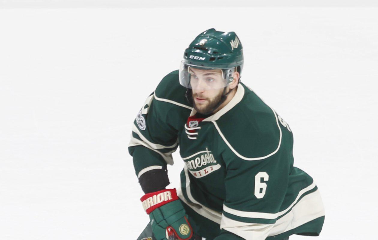 Following last season's playoffs with Minnesota, Marco Scandella had hip surgery. (NHLI via Getty Images)