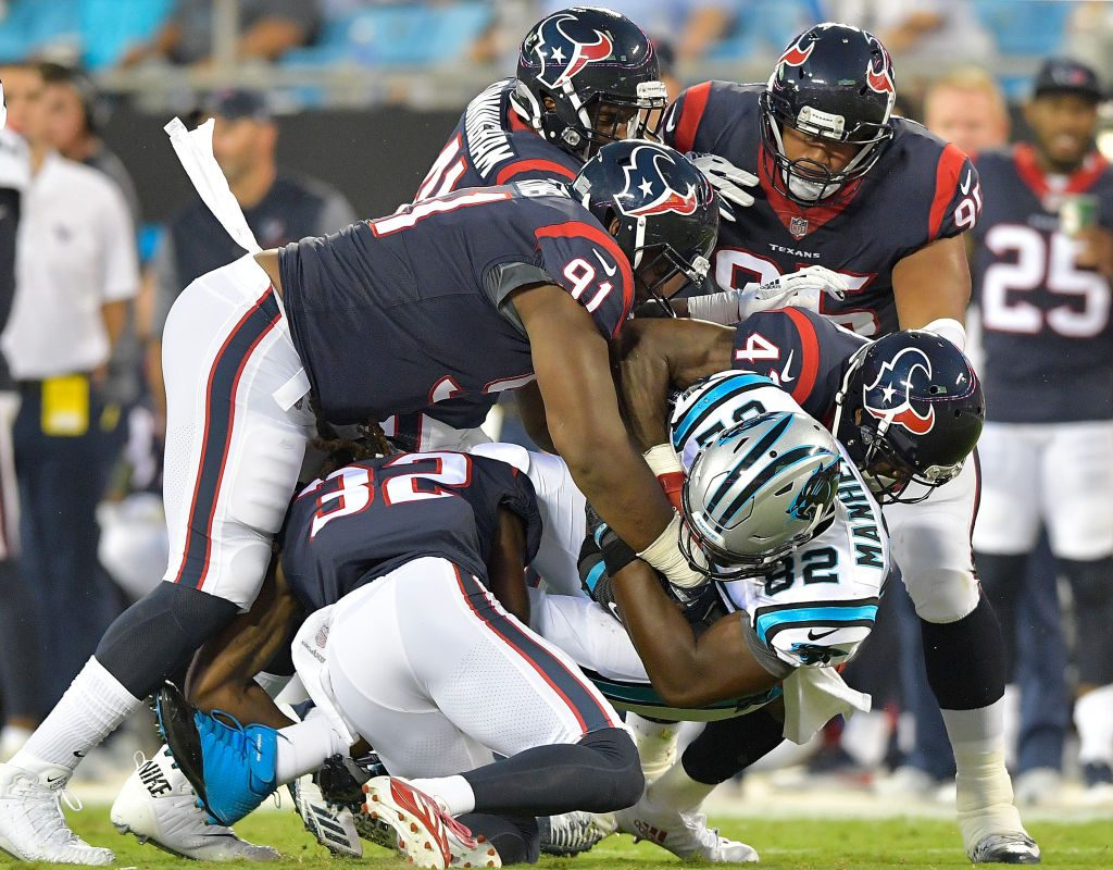 The Houston Texans' run defense is tied for eighth in the NFL. (Getty Images)