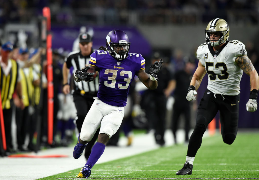 Dalvin Cook of the Minnesota Vikings could find tougher going this week than he did opening week against the Saints. (Getty Images)