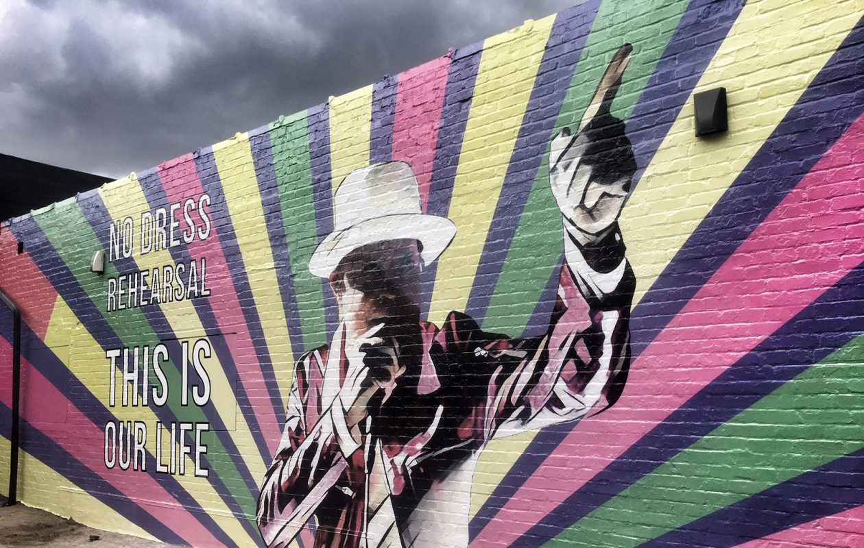 The new mural on Hertel Avenue featuring Gord Downie of the Tragically Hip. (Photo by Rory Allen)