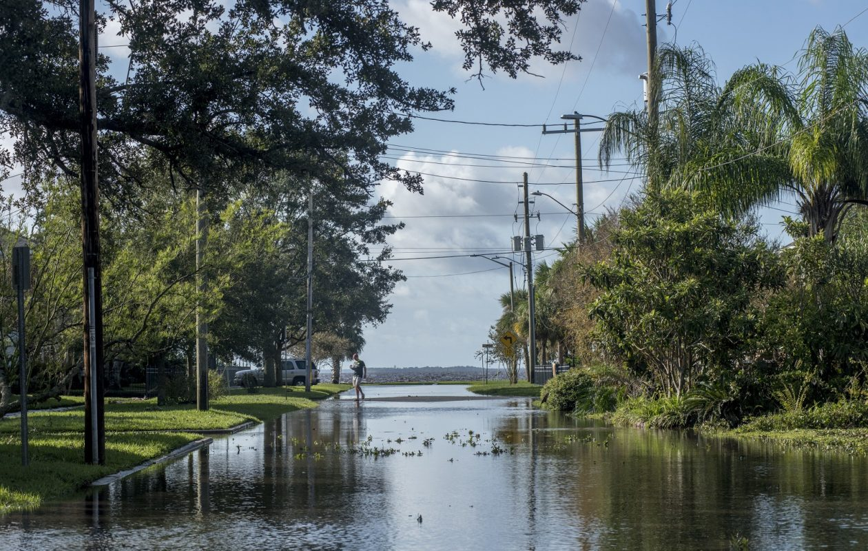Flooding in the Riverside neighborhood in Jacksonville, a day after Hurricane Irma, in Jacksonville, Fla., Sept. 12, 2017. (Johnny Milano/The New York Times)