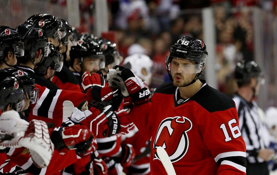 Jacob Josefson was a regular at getting congratutions from his teammates in New Jersey after scoring in shootouts (Getty Images).