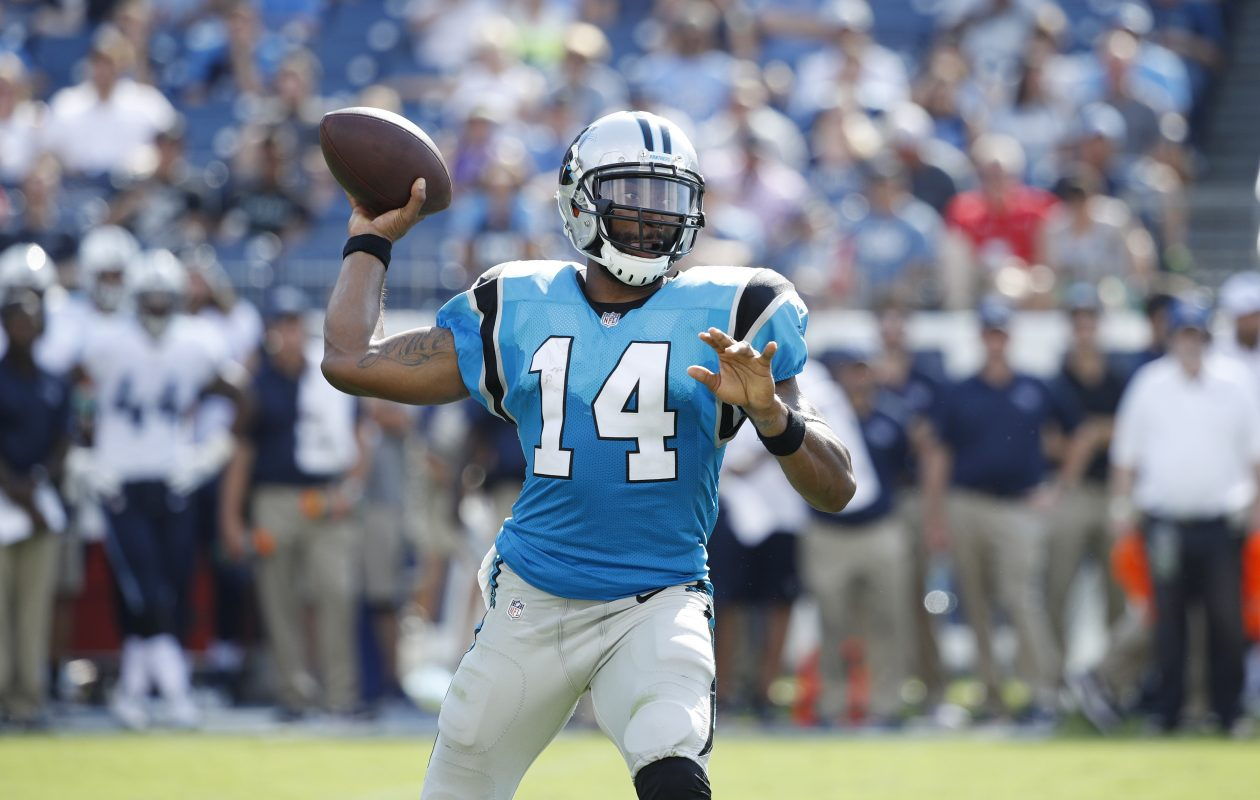 Bills coach Sean McDermott was thrilled that highly versatile former Panthers quarterback Joe Webb was available to sign.