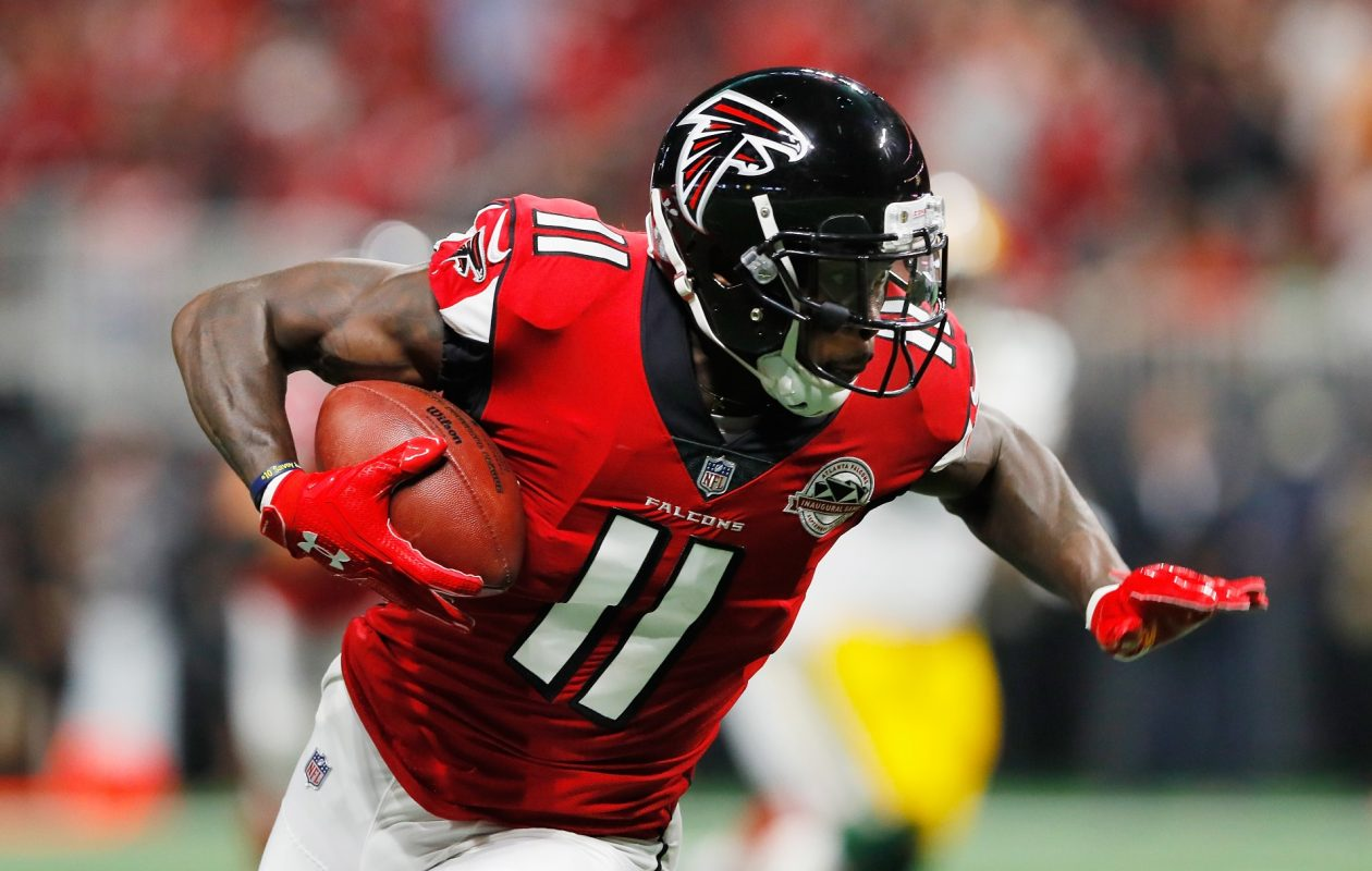 Julio Jones is currently fourth in yards per route run (2.98), the ultimate efficiency metric for wideouts. (Getty Images)