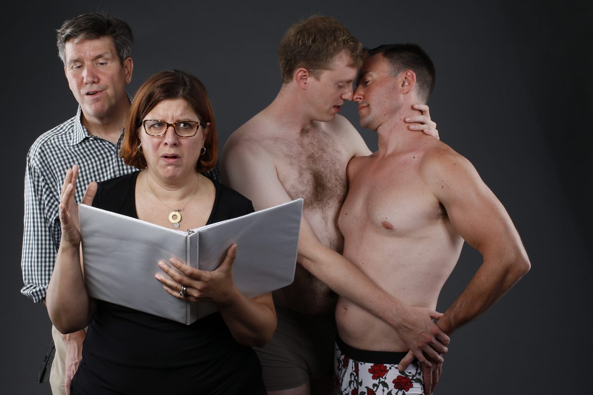David Granville, left, appears with Caitlin Baeumler Coleman, Steve Brachmann and A. Peter Snodgrass in Buffalo United Artists' production of Donna Hoke's play 'Sons and Lovers.'