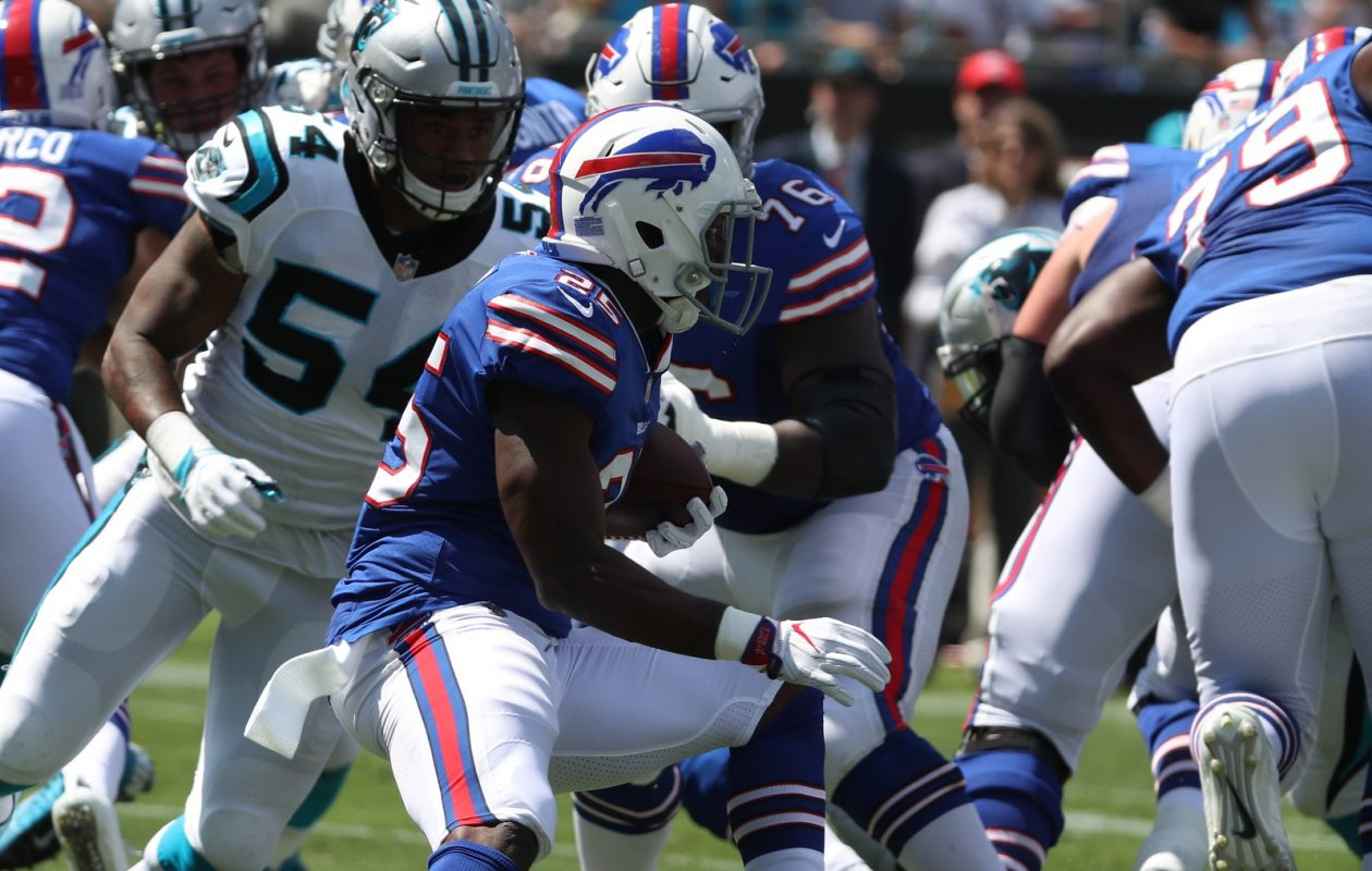 LeSean McCoy frequently had nowhere to run Sunday for the Buffalo Bills against the Carolina Panthers. (James P. McCoy / Buffalo News)