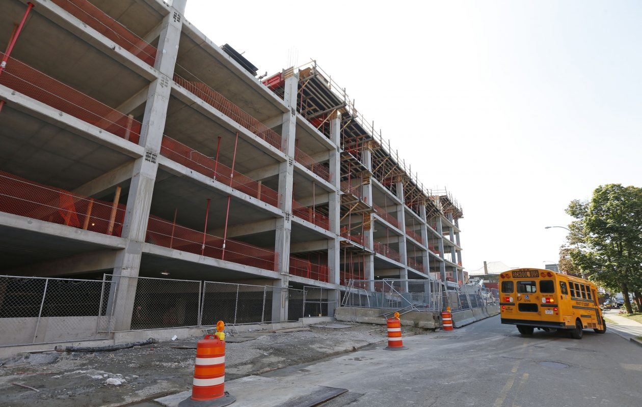 The new parking ramp behind Oishei Children's Hospital will have 1,825 parking spaces.  (Robert Kirkham/Buffalo News)