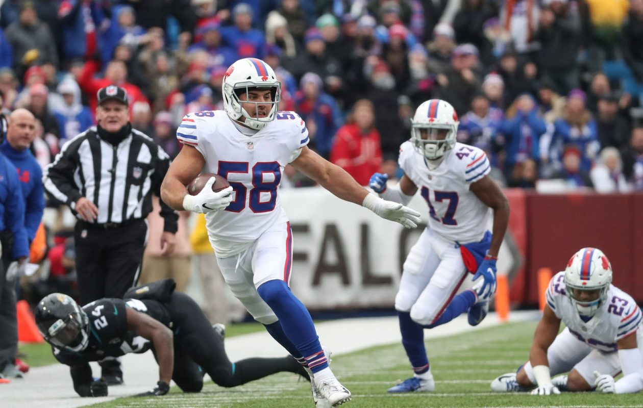 Linebacker Matt Milano has shown he's got big-play ability in two seasons with the Bills. (James P. McCoy/News file photo)